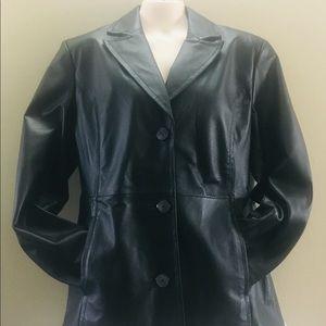 Worthington Black Leather Jacket Size Large